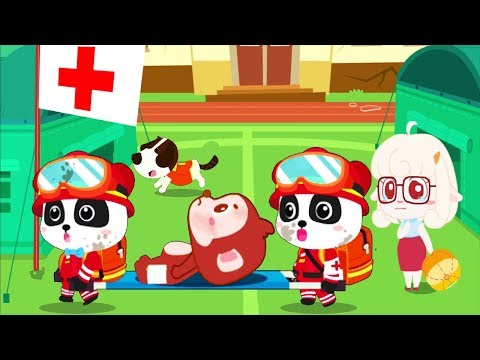 Baby Panda's Earthquake Rescue - Play Kids Rescue People In The Earthquake - Fun Educational Games