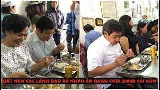 Bất ngờ bắt gặp Vợ chồng chủ tịch nước Trương Tấn Sang ăn tại quán cơm 2000 đồng cùng người nghèo
