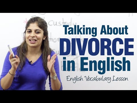 Speaking about a divorce in English - English lesson to learn speaking English.