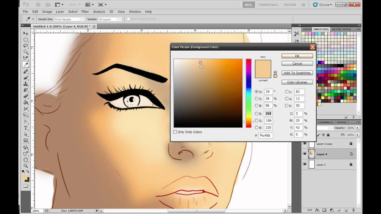 how to draw in photoshop cs6 with a mouse