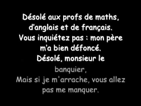 Sexion d'Assaut- Désolé (lyrics)