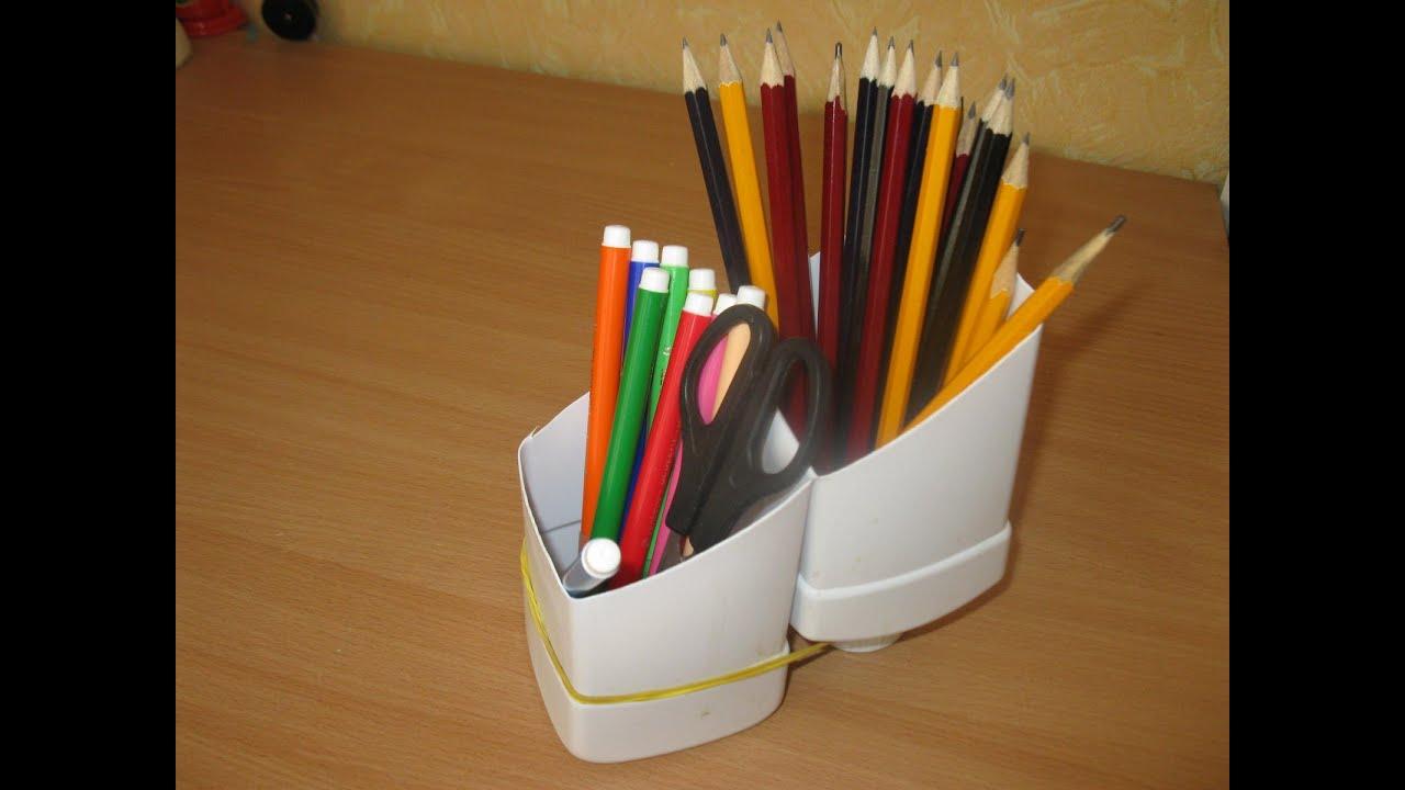 Стаканчик для карандашей своими руками для детей