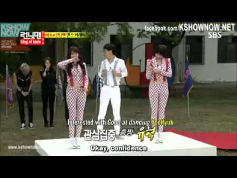 Running man ep 162. Yoo Jae Suk dance with Girl's Day [eng sub]