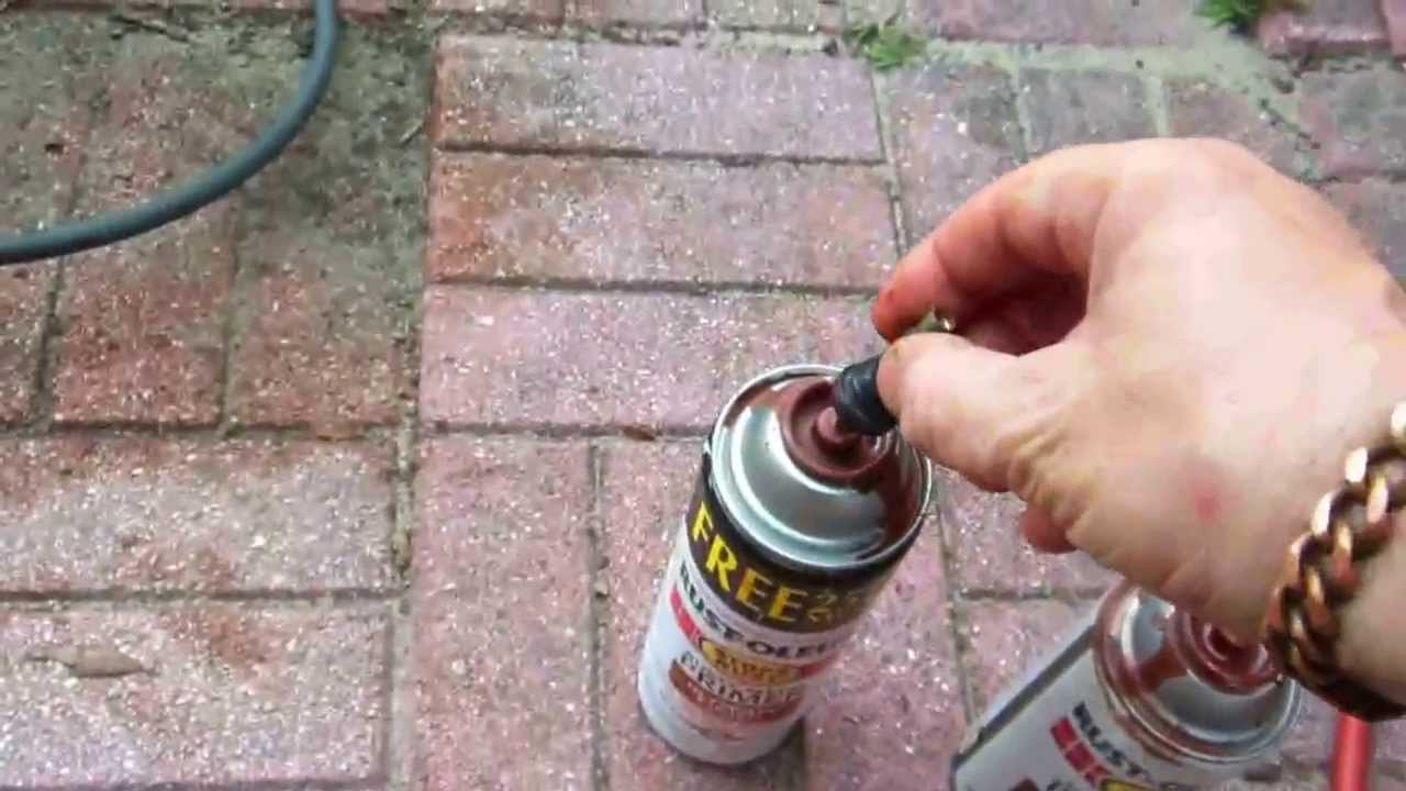How To Unclog A Spray Can Of Paint