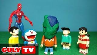 đồ chơi Doremon chế hài - Chaien bắt nạt Nobita và Xeko, người nhện trừng phạt Chaien - Doraemon Toy