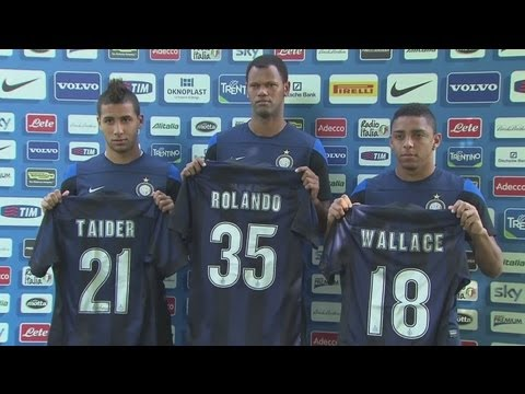 Rolando, Wallace and Taider unveiled at Inter Milan