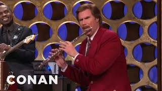 "Ron Burgundy's ""Anchorman"" Announcement CONAN On TBS"