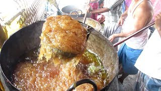 HALWA Preparation for 200 People   Indian Sweet Recipes   Street Food Loves You   Village Food