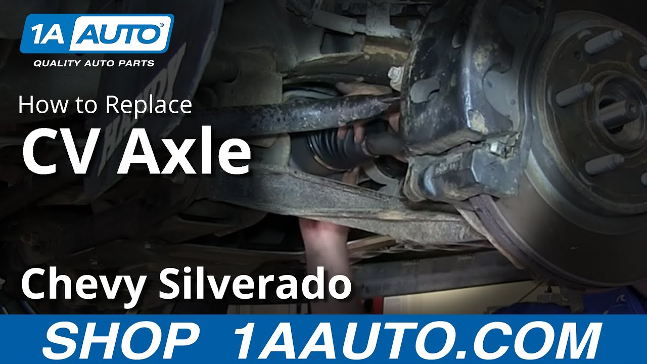 how to install replace front axle cv joints 2007