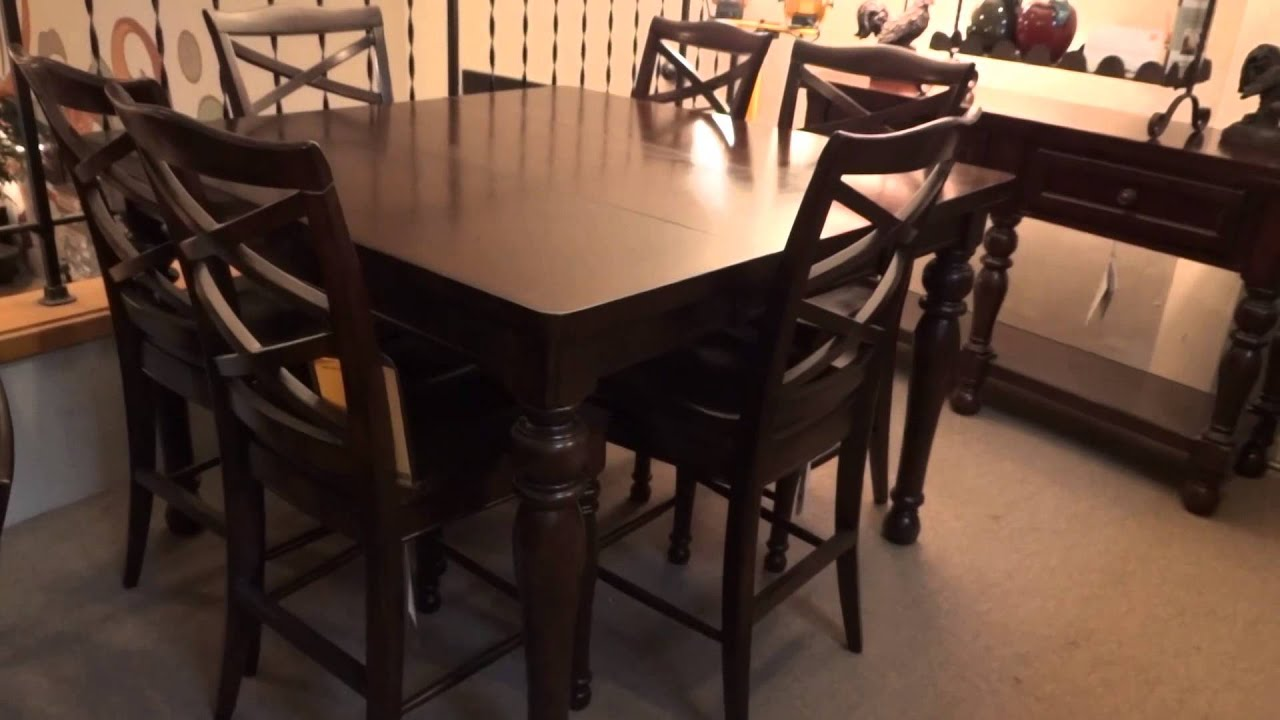Ashley Porter Counter Height Extension Dining Set Review  : maxresdefault from www.youtube.com size 1920 x 1080 jpeg 107kB