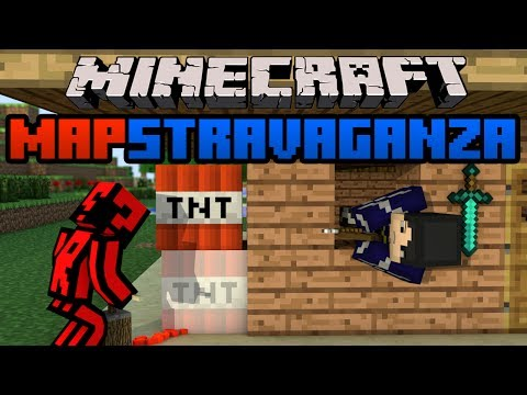 Minecraft Mapstravaganza! Cartoon City, Magic Redstone and Story Face Off!