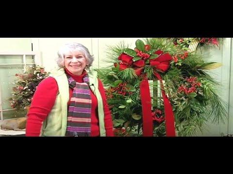 how to make a fresh christmas wreath youtube