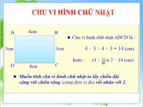 Toan lop 3 - Chu vi Hinh chu nhat