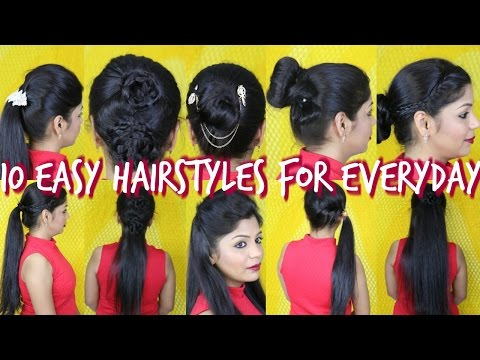 10 Easy Hairstyles For Everyday | Superprincessjo