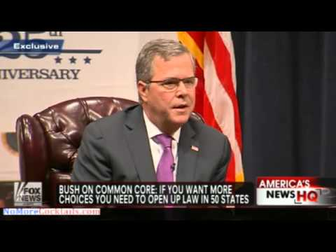 Jeb Bush supports the higher standards in Common Core