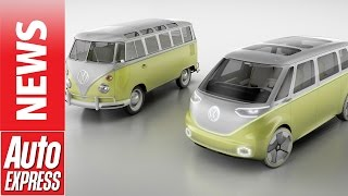 Volkswagen's I.D. Buzz concept is electric self-driving Microbus!. Auto Express.