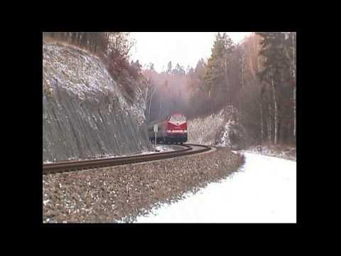 Ludmillas/ 232 mit Interregios zwischen Weimar und Jena im Winter 2000