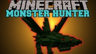 Minecraft : MONSTER HUNTER (BOSSES, MOBS, HUGE WEAPONS, 2