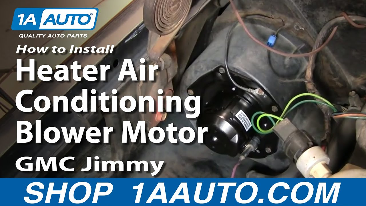 How To Install Heater Air Conditioning Blower Motor Chevy