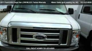 2011 Ford E250 Cargo Van LOW MILES!  Factory Warranty!  3 To Choose From! - for sale in Bismarck, videos
