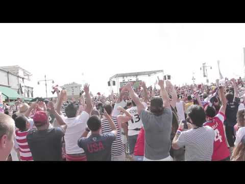 Hermosa Beach reacts to John Brooks Goal | USA vs. Ghana
