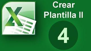 Excel - Crear plantilla (II) Cap. 4