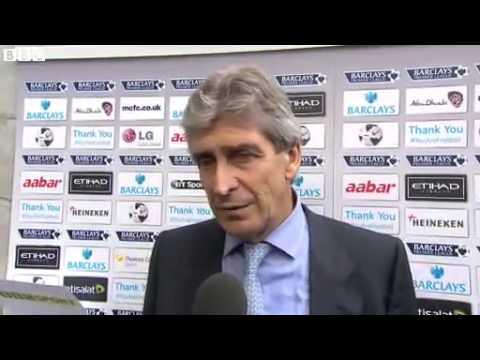 Manuel Pellegrini Post Match Interview Manchester City vs Everton 3 1 [5.10.2013] HD