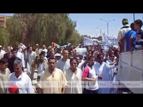 """شاهد بالفيديو .. سكان عين وسارة يخرجون في مسيرة مؤيدة لــ """"غزة"""""""