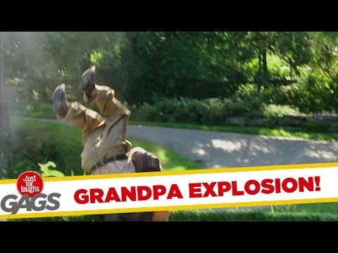 Grandpa Blown Up Real Good Prank
