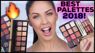THE BEST EYESHADOW PALETTES OF 2018!! YEARLY BEAUTY FAVORITES!!