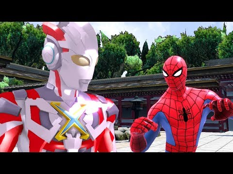 Ultraman X Robot Vs Spiderman Upin Ipin Funny Action Nursery Rhymes