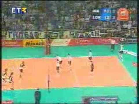 Volleyball IECL 2005 Semifinal: Iraklis - Locomotiv 3-2