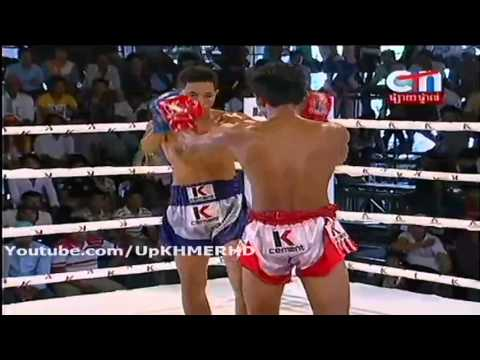 Khmer Boxing on CTN on 10 Nov 2013 Phan Saron VS Sal Piset