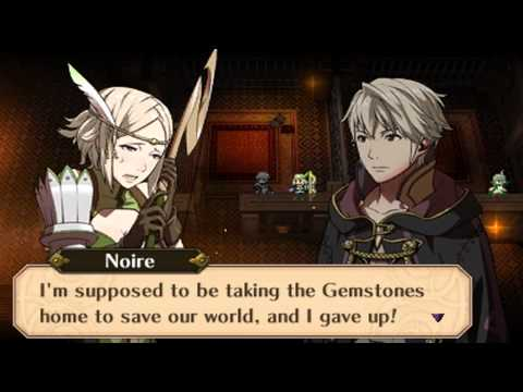 Fire Emblem Awakening - Male Avatar (My Unit) & Noire The Future Past 1 Conversation