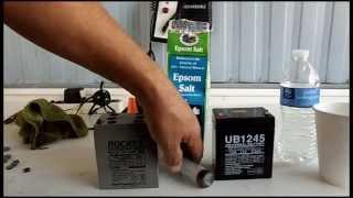 Como reparar una batería de 12 voltios