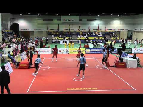 Sepak Takraw King's Cup 2012 - Thailand vs. Malaysia - 1st regu (Team Event)