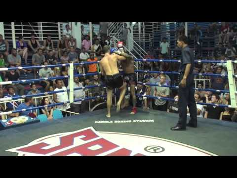 Eduardo Nestorovic (Tiger Muay Thai) vs Amir (Lion Muay Thai) @ Bangla Boxing Stadium 9/7/2014
