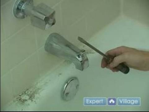 How To Fix A Leaky Bathtub Faucet Removing The Spout From A Leaky Bathtub Faucet Youtube