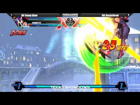 AB Young Chow vs INS Buckethead - Ultimate Marvel vs. Capcom 3 (Texas Showdown)