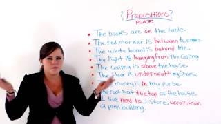 Prepositions In English, Place prepositions video lessons