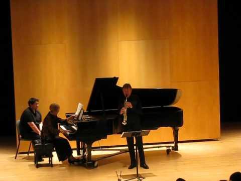 Claude DeLangle, alto saxophone and Nadine Shank, piano Debussy: Rhapsody