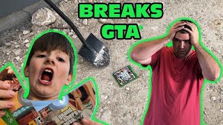Kid Temper Tantrum BREAKS GTA 5 After Trying To Hide Game From Daddy