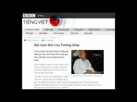 15-02-2011 - BBC Vietnamese - Giả mạo thư của Tướng Giáp