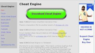 How To Download Cheat Engine 6.1 For Free