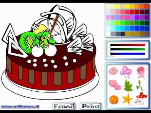 Игры раскраски торты