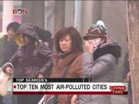 Top ten most air-polluted cities  - China Take - Mar 17 ,2014 - BONTV China