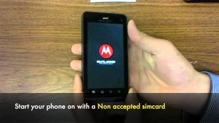 UNLOCK MOTOROLA Droid 3 XT860 How To Unlock Droid 3