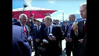 بوتين يشتري -الأيس كريم- لمرافقيه