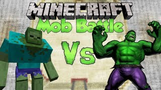 HULK Vs MUTANT ZOMBIE Minecraft Mob Battles (HULK SMASH