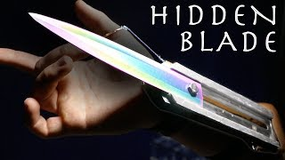 How To Make An Assassin's Creed HIDDEN BLADE! - Rainbow Metal, Spring Loaded (Simple Build)
